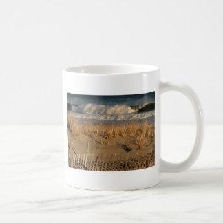 Ocean City Dunes with Waves Basic White Mug