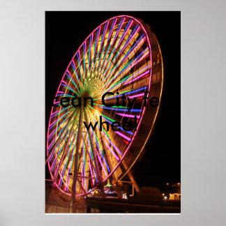 Ocean City Ferris Wheel Poster