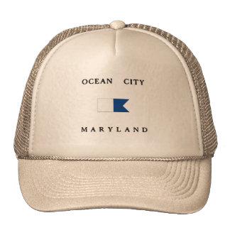 Ocean City Maryland Alpha Dive Flag Mesh Hats
