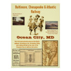 Ocean City, Maryland by Rail Poster
