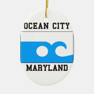 Ocean City Maryland Ceramic Oval Decoration