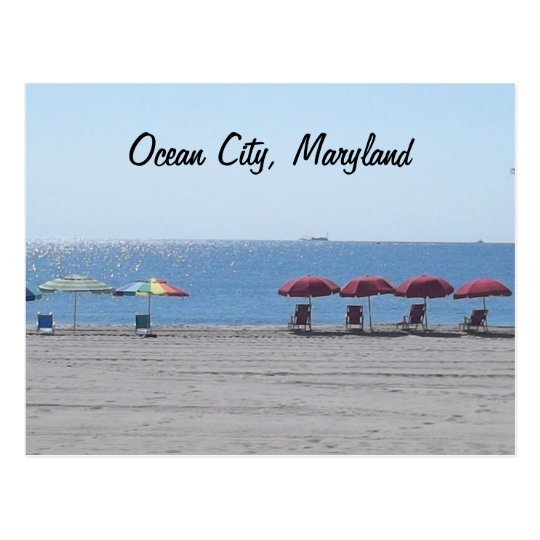 Ocean City, Maryland - Empty Beach Postcard