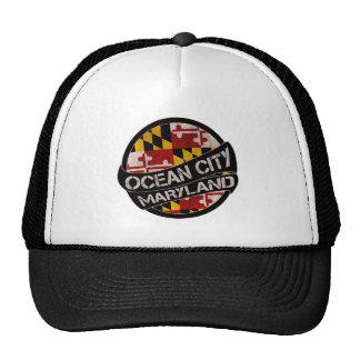 Ocean City Maryland flag grunge trucker hat