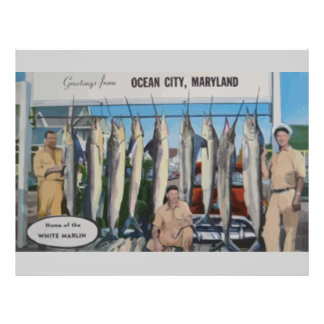 Ocean City, Maryland Home Of The White Marlin, Vin Personalized Flyer