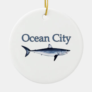 Ocean City Maryland Logo (mako shark) Christmas Ornament