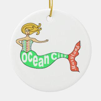 Ocean City, Maryland Mermaid Christmas Ornament