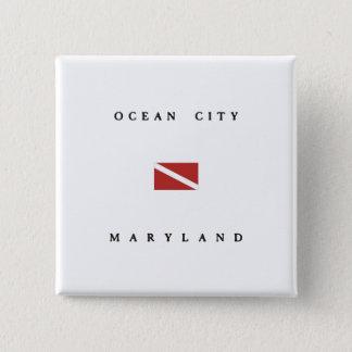 Ocean City Maryland Scuba Dive Flag 15 Cm Square Badge
