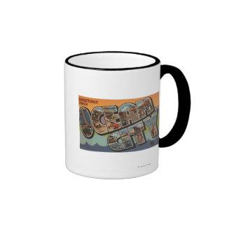Ocean City New Jersey - Large Letter Scenes Coffee Mug