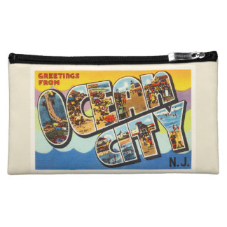 Ocean City New Jersey NJ Vintage Travel Postcard- Cosmetic Bag