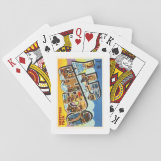 Ocean City New Jersey NJ Vintage Travel Postcard- Playing Cards