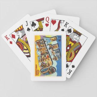 Ocean City New Jersey NJ Vintage Travel Postcard- Poker Deck