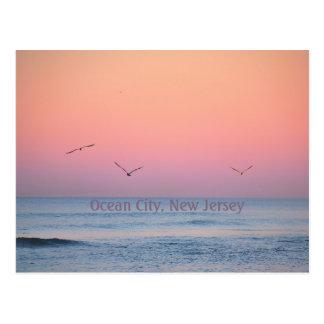 Ocean City, New Jersey Pastel Sunrise Postcard