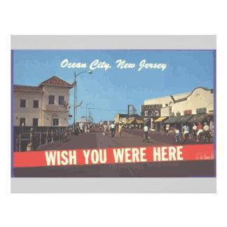 Ocean City, New Jersey, Vintage Flyer