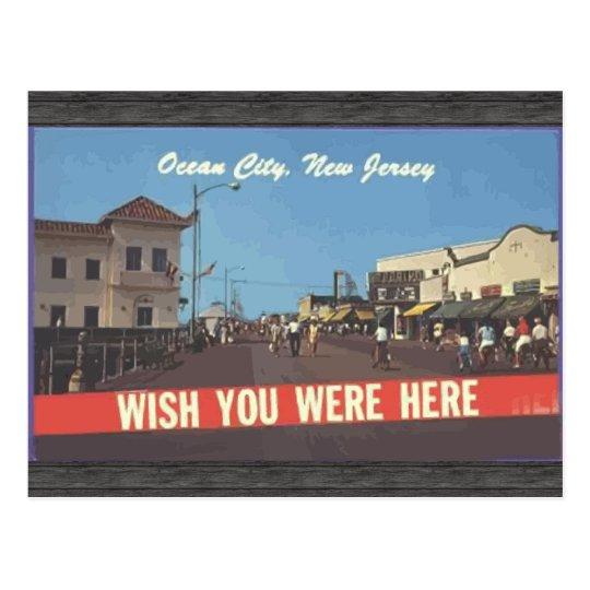Ocean City, New Jersey, Vintage Postcard
