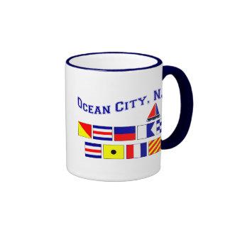 Ocean City, NJ Ringer Coffee Mug