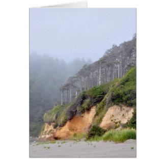 Ocean Cliffs at Seabrook, WA Greeting Card