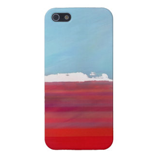 Ocean Coast Island Sky Landscape Blue Red White Case For The iPhone 5
