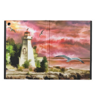 Ocean Coast Lighthouse Scene, iPad Air Case