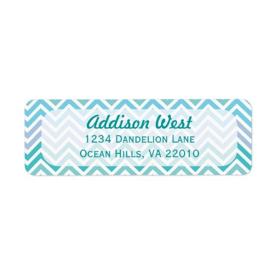 Ocean Colours Chevron Address Labels