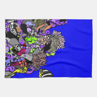 Ocean Coral Reef Tea Towel