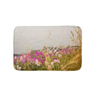 Ocean Cove with Flowers Shower/Bath Mat
