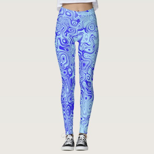 Ocean Currents Leggings by John Oven