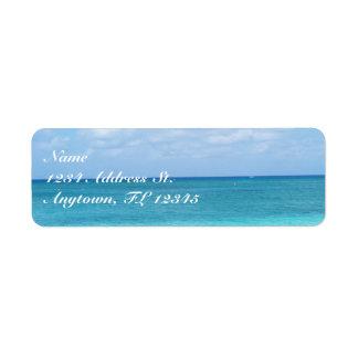 Ocean custom return address labels