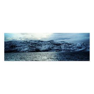 Ocean Dark Blue Clouds Bookmark Business Card