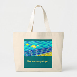 ocean day! large tote bag