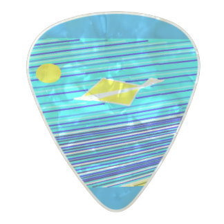 ocean day pearl celluloid guitar pick