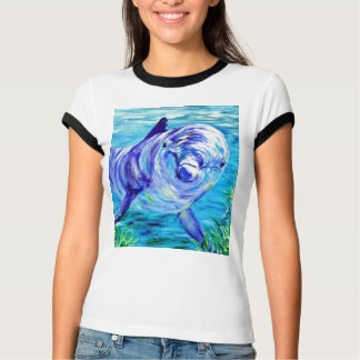 Ocean Dolphins Painting Dolphin Underwater Picture T-Shirt
