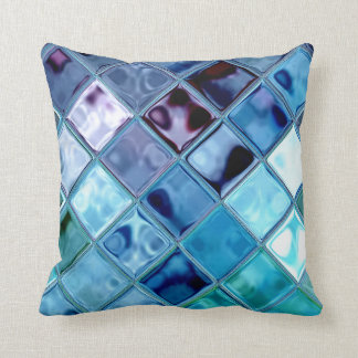 Ocean Dove Deep Water Blue Throw Pillow