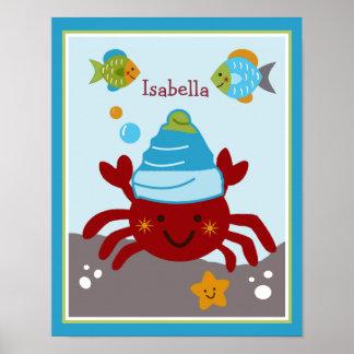 Ocean Dreams/Sealife/Crab Personalized Poster