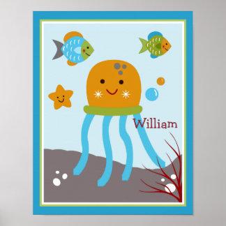 Ocean Dreams/Sealife/Fish Personalized Poster