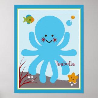 Ocean Dreams/Sealife/Octopus Personalized Poster