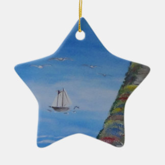 Ocean Dreams Square Christmas Ornament