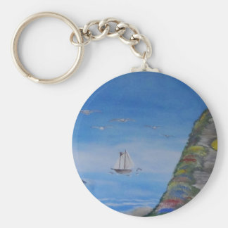 Ocean Dreams Square Key Chain