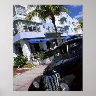 Ocean Drive, Miami Beach Florida Poster