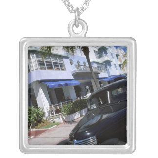 Ocean Drive, Miami Beach Florida Silver Plated Necklace