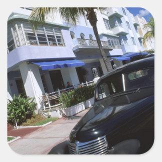 Ocean Drive, Miami Beach Florida Square Sticker