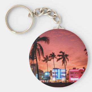 Ocean Drive - Miami Beach Skyline Keychain