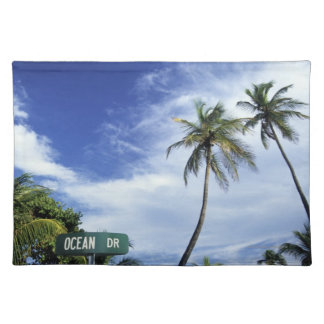 Ocean Drive' road sign, South Beach, Miami, Florid Placemat