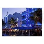 Ocean Drive, South Beach, Miami Beach, 2 Greeting Card