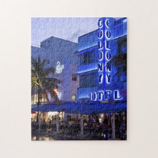 Ocean Drive, South Beach, Miami Beach 2 Jigsaw Puzzle