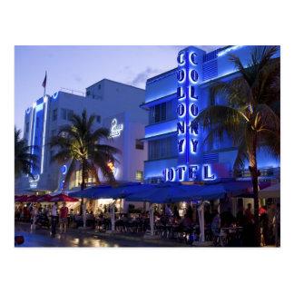 Ocean Drive South Beach Miami Beach 2 Post Cards