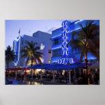 Ocean Drive, South Beach, Miami Beach, 2 Poster