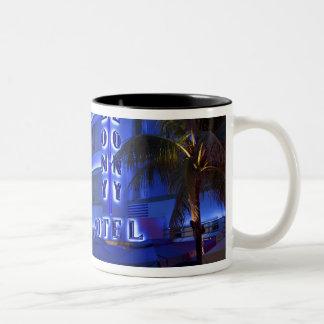 Ocean Drive, South Beach, Miami Beach, 2 Two-Tone Mug