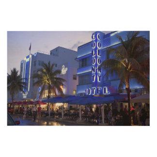 Ocean Drive, South Beach, Miami Beach 2 Wood Print