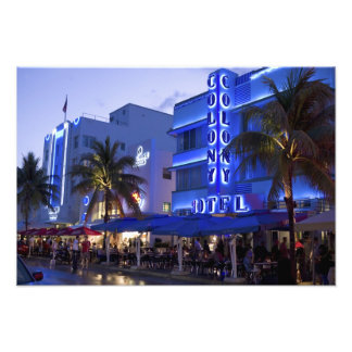 Ocean Drive, South Beach, Miami Beach, Photo Print