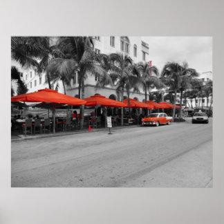 Ocean Drive South Beach Miami Oldtimers Print